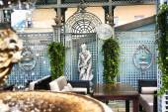 Prestigious restaurant open terrace interior — Stock Photo