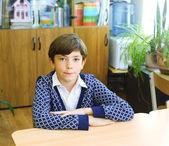 Preteen bouvart dans la salle de classe — Photo