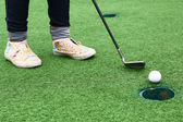 Golf game for kids in country club — Stock Photo