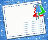 Bright Christmas Greeting form, letters, christmas background — Stock Photo