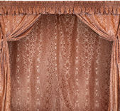 The photo of smart curtains from a gold velvet (not 3D) — Foto de Stock