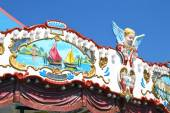 Detail of a carousel with cupids, close-up — Stock Photo