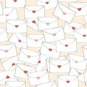 Patrón con cartas de amor. — Vector de stock