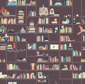 Knihovny, knihkupectví, Bookcrossing. — Stock vektor