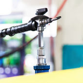 Refueling with natural gas — Stock Photo