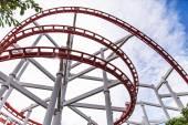Roller Coasters loops — 图库照片