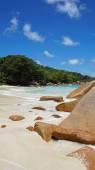 Tropical beach anse lazio — Stock Photo