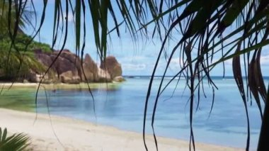 Seychellen-strand — Stockvideo