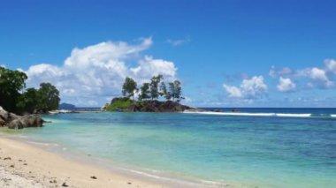 Natural seychelles coast — Vídeo de Stock
