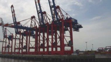 Hamburg hafen — Stockvideo