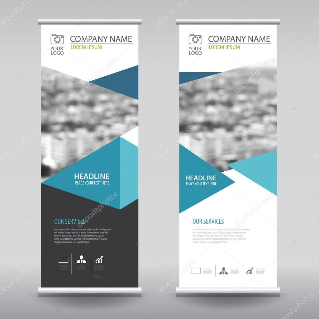 Roll Up Business Brochure Flyer Banner Design Vertical