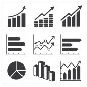 Icon set of diagram and graphs Business — Vettoriale Stock
