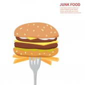 Junk food background — Vettoriale Stock
