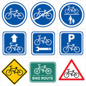 Set of bicycle icons — Stock Vector