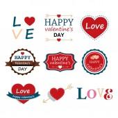 Set Of Happy Valentine's Day Elements  — Vector de stock