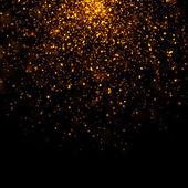 Gold glittering bokeh stars dust — Foto de Stock