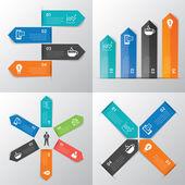 Paper tab infographic — Vecteur