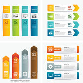 Set of infographic templates — Stock Vector