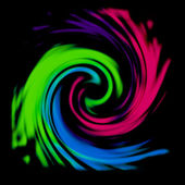 Multicolor swirl abstract background — Stock Photo