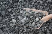 Coal with shovel — Stock Photo