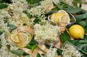 Health syrup  from elderberry flowers — Stock Photo