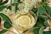 Elderberry lemonade — Stock Photo