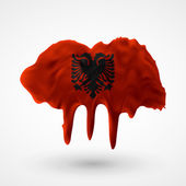 Flag of Albania painted colors — Stock Vector
