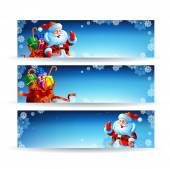 Banner with a bag of Christmas gifts — Stock Vector