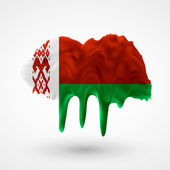 Flag of Belarus painted colors — Stock Vector