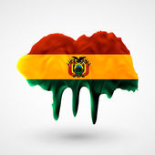 Flag of Bolivia painted colors — Stock Vector