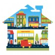 The city as a home — Stock Vector #61106427