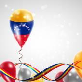 Flag of Venezuela on balloon — Vector de stock