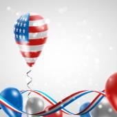 USA flag on balloon — Stockvektor