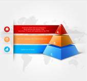 Vector infographics element with colored pyramid. For workflow layout, diagram, number options, step up options, web design, infographics. Promotion and advertising successful business development. — Stock Photo