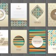 Brochures in vintage style — Stock Vector #73304911