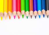 Colorful pencils isolated on a white backgrounds — Stock Photo