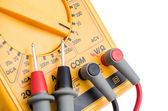 Multimeter with probes (close-up) — Stock Photo