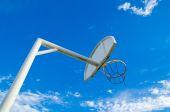 Basketball board & hoop — Stock Photo
