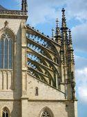 Portico gotico della Cattedrale di barbora — Foto Stock