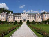 Front view of rococo castle Nove Hrady, czech Republic — Stock Photo