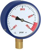 Manómetro se aproximando ano 2015 — Foto Stock