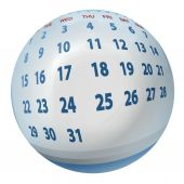 Stylized abstract calendar mapped on ball — Stock Photo