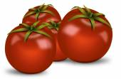 Bunch of shadowed tomatoes — Stock Photo