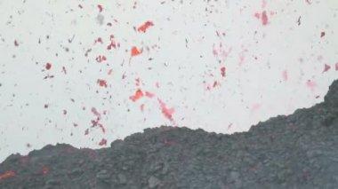 Lava splash detail — Stock Video