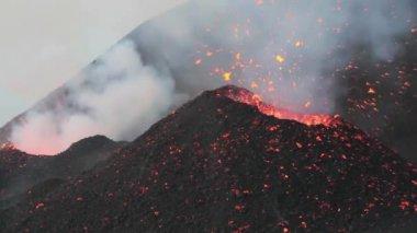 Volcanic vent — Stock Video