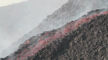 Etna lava flow — Stock Video