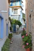 переулок небольшой деревни — Стоковое фото