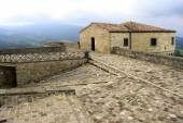 San Leo, Italien - September 2014: Innenansicht der fortificat — Stockfoto