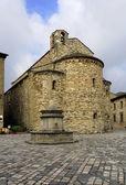 San Leo, Italy - September 2014: the parish church of St. Mary — Stock Photo