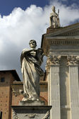 Urbino, Italy, September, 2014. The statue of St. Crescentin — Stock Photo